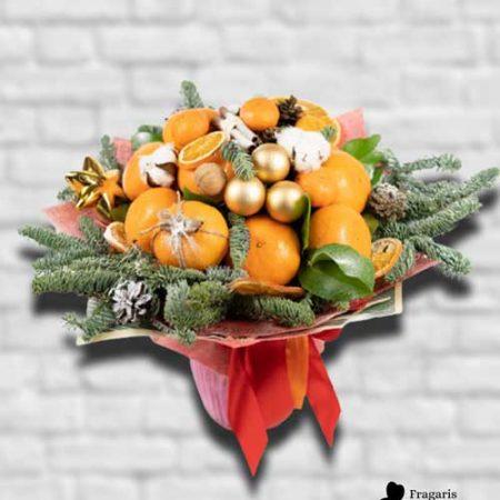 Букет-с-мандаринами-на-новый-год