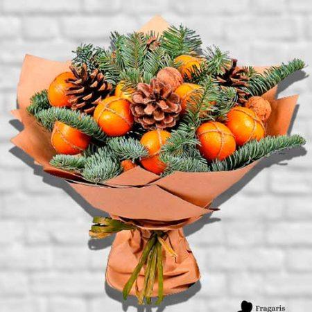 Зимний-букет-с-мандаринами